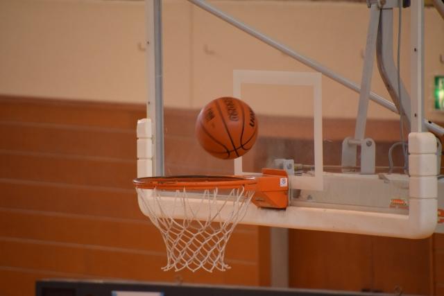 バスケットボールとリング